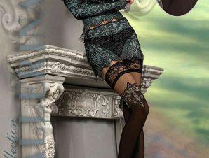 2206 BA Εντυπωσιακές κάλτσες με σιλικόνη μαύρο/ μπεζ-Μαύρο