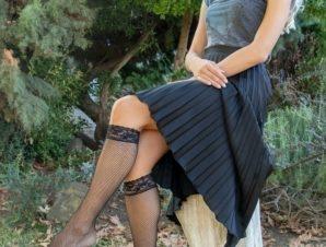 Τρουακάρ Δίχτυ Κάλτσες Με Δαντέλα
